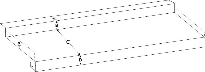 Fönsterbleck med a instick & gavel